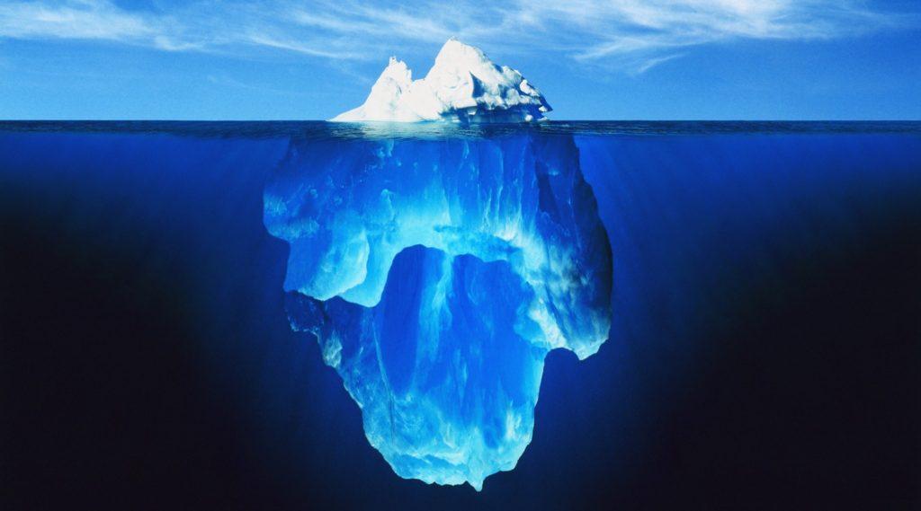 氷山の一角のイメージ