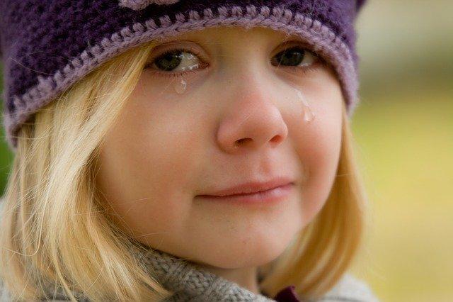 泣く子供のイメージ