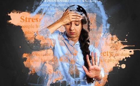 ストレスが溜まった女性のイメージ画像