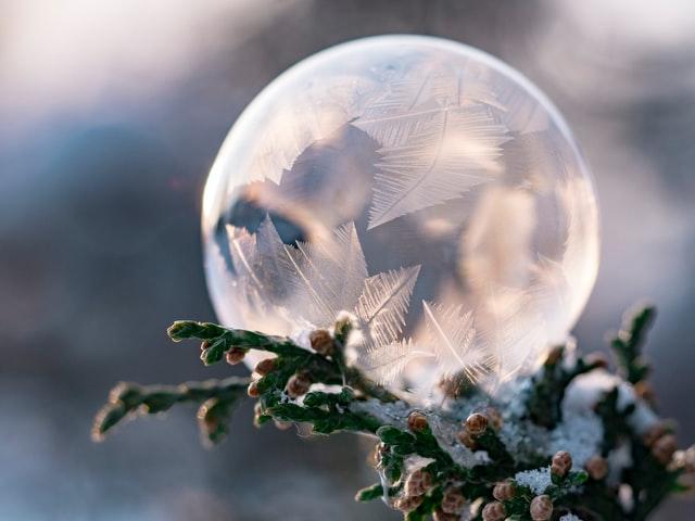 繊細な氷のイメージ