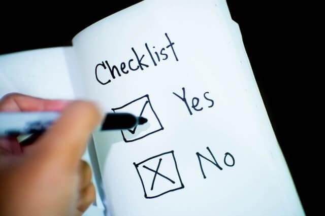 チェックリストのイメージ画像