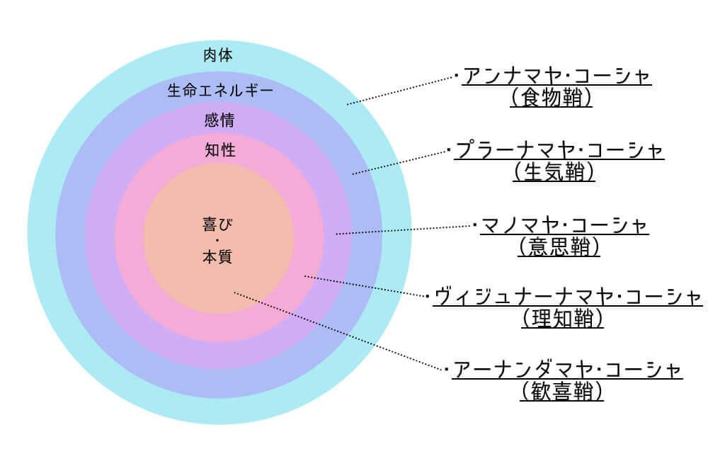 人間の5つの「鞘(さや)」イメージ